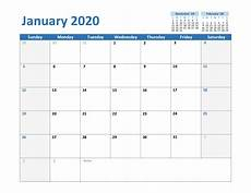 January 2020 Calendar Download Create Your January 2020 Calendar Printable Editable