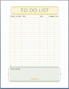 To Do List Microsoft Word Ms Word Personal Tasks To Do List Template Formal Word