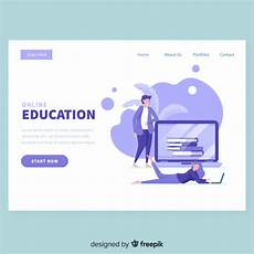 Online Education Templates Free Download Online Education Landing Page Template Vector Free Download