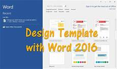 Header Templates For Word How To Design Template With Word 2016 Wikigain