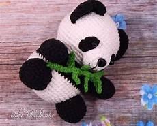 small knitted panda crochet amigurumi shop on