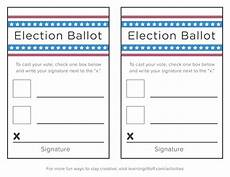Voting Ballot Template For Word Voting Printables For Kids Learning Liftoff
