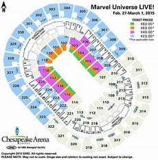 Marvel Universe Live Seating Chart Chesapeake Energy Arena Seating Charts
