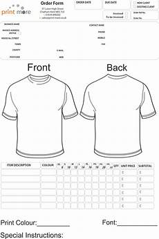 Tee Shirt Order Form T Shirt Order Form Template E Commercewordpress