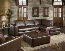 brown bonded leather sectional sofa w options