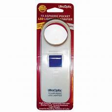 Ultraoptix 7x Aspheric Led Lighted 7x Led Lighted Pocket Magnifier