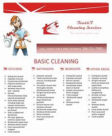 Cleaning Company Services Offered Flyer For A Cleaning Services Company On Behance