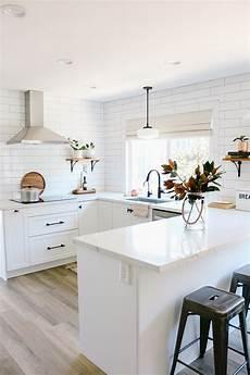 white semihandmade kitchen renovation before after