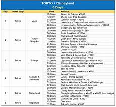 Itinerary Example Sample Japan Itineraries With Estimated Budget 4 6 7 8