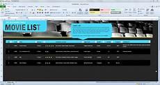 Movie Database Spreadsheet Movie List Spreadsheet Template For Excel 2013
