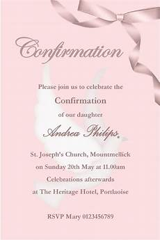 Free Confirmation Invitation Templates Personalised Confirmation Invitations Son Design 2