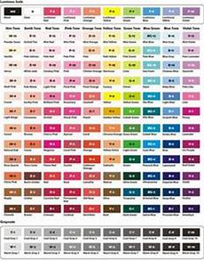 Prismacolor Art Markers Color Chart Prismacolor Premier Color Charts To Color In And Have As