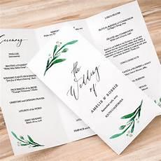 Tri Fold Wedding Programs Trifold Wedding Program Printable Template Folded Order Of