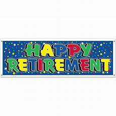 Retirement Banners Happy Retirement Jumbo Plastic Sign Banner Party Accessory