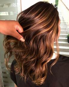 Light Brown Hair With Strawberry Highlights 60 Looks With Caramel Highlights On Brown And Dark Brown Hair