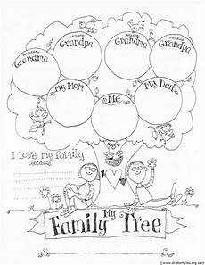 Printable Family Tree For Kids Free Printable Family Tree Coloring Page Skip To My Lou