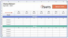 How To Create A Work Schedule On Excel Work Schedule Template