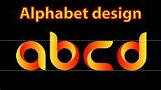 Abcd Logo Design Illustrator Alphabet Logo Design For Beginners Abcd Youtube