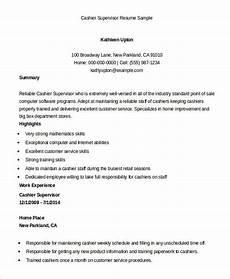 Resume For A Cashier Example 6 Cashier Resume Templates Pdf Doc Free Amp Premium