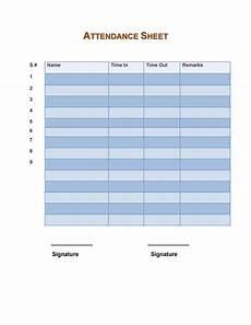 Attendance Sheets Printable 43 Free Printable Attendance Sheet Templates Templatelab