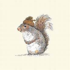 squirrel with an acorn hat the pawses