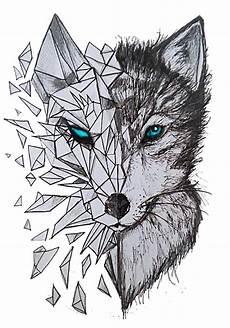desenho de lobos quot geometric wolf quot by wearethevoice redbubble