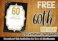 Free Printable 60th Birthday Invitations Templates Free Printable Black And Gold 60th Birthday Invitation