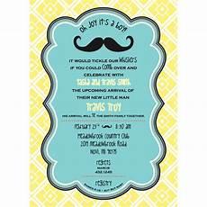 Free Custom Evites Little Man Mustache Baby Shower Printable Invitation