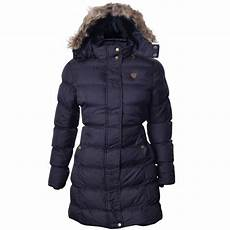 womens brave soul fur trimmed hooded padded puffer