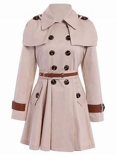 belts for trench coats stylish sleeve turn dowm collar breasted with