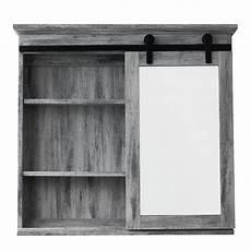 glacier bay 31 in x 29 in barn door medicine cabinet