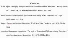 Format Of A Work Cited Page Mla Works Cited List Youtube