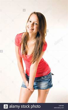 Younger Teens Beutiful Casually Dressed Cute Young Girl Posing