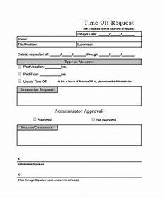 Paid Time Off Forms Free 24 Time Off Request Forms In Pdf