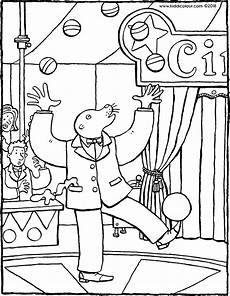 ein jongleur im zirkus kiddimalseite