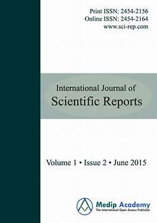 Scentific Report International Journal Of Scientific Reports