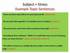Examples Of Topic Sentences For An Essay Writing Topic Sentences