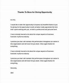 Thank You Letter For Interview Opportunity Free 24 Sample Thank You Letter Templates To Boss In Pdf