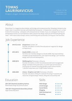 eresume template free 7 resume template designs in psd ms word