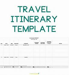 Itinerary Planner Template Free How To Plan A Trip Free Travel Itinerary Template Tfs