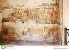 pinturas fresco en las paredes romanas antiguas imagen