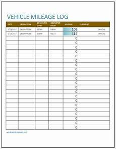 Km Log Sheet 10 Vehicle Mileage Log Templates For Ms Excel Word