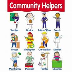 Our Helpers Chart Community Helpers Poster English Wooks