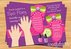 invitation ideas for party pedi spa party kids birthday invitation