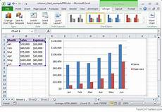 Charts And Graphs Microsoft Excel 2010 Ms Excel 2010 How To Create A Column Chart
