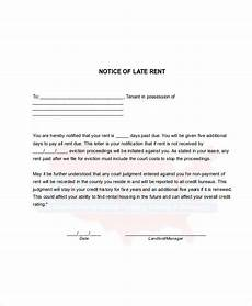 Rent Due Letter Landlord Late Rent