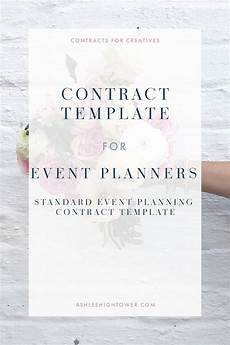 Event Planner Contract Templates Event Planner Contract Template Contract For Creatives