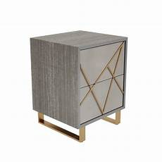 grade a1 2 drawer bedside table in taupe with