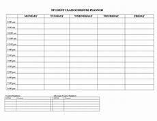 College Class Schedule Maker Template Student Planner Templates Student Class Schedule Planner