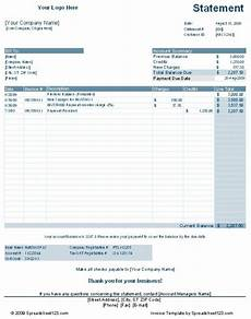 Accounts Receivable Statement Template Customer Account Statement Template Free Download And